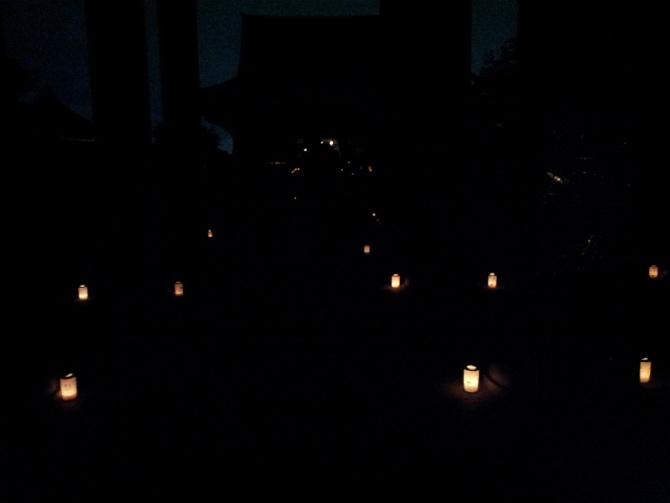 池上本門寺キャンドルナイト 2013-06-15 20.47.08